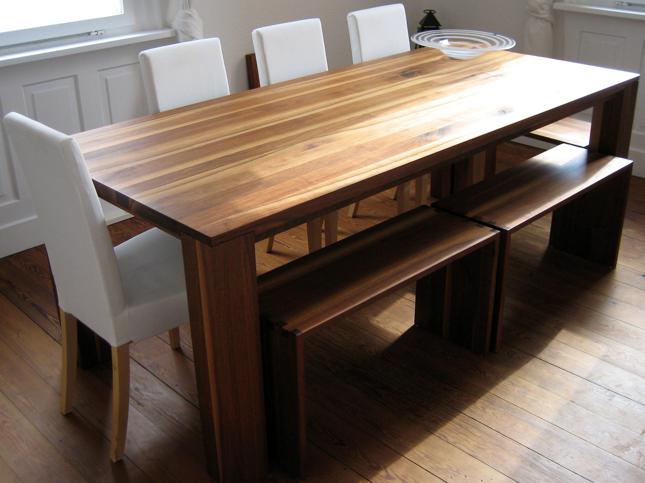 Esstisch nussbaum 11treedesigns schreinerei interior for Tisch massiv ausziehbar